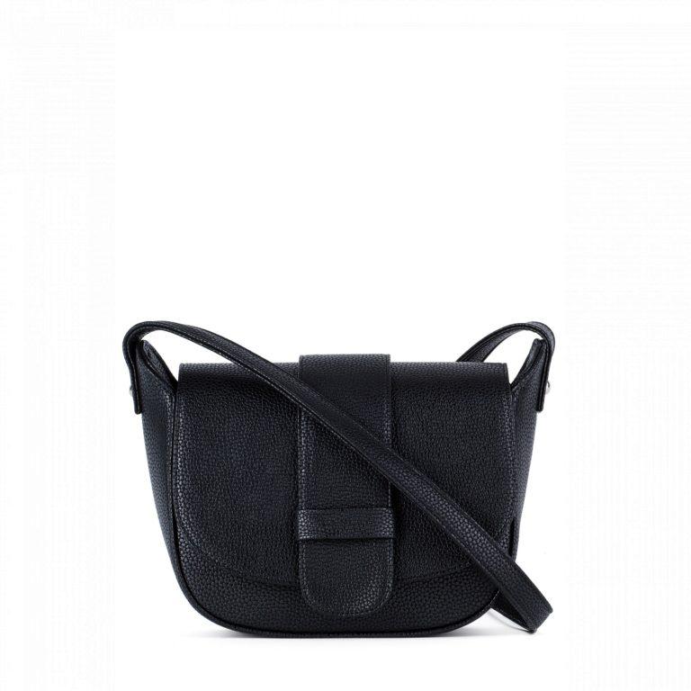 Небольшая женская сумка с клапаном Грифон черного цвета, артикул 652