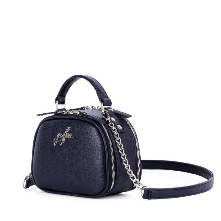 Маленькая сумка на цепочке через плечо Грифон синего цвета артикул 664