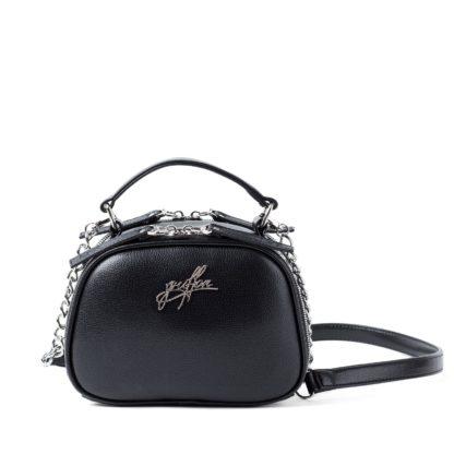 Маленькая сумка на цепочке через плечо Грифон черного цвета артикул 664