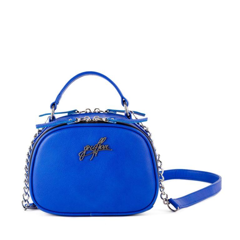 Маленькая сумка на цепочке через плечо Грифон яркого синего цвета артикул 664