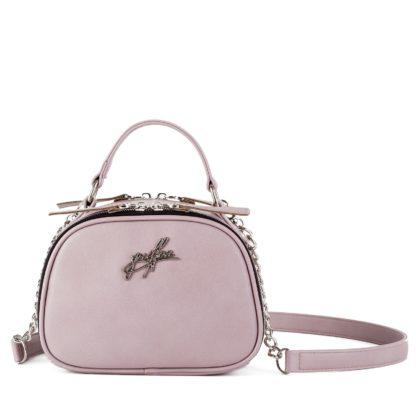 Маленькая сумка на цепочке через плечо Грифон нежного розового цвета артикул 664