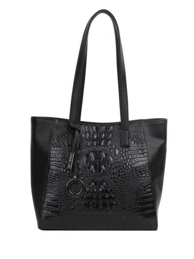 Женская сумка-шоппер Грифон цвета черный крокодил, артикул 619