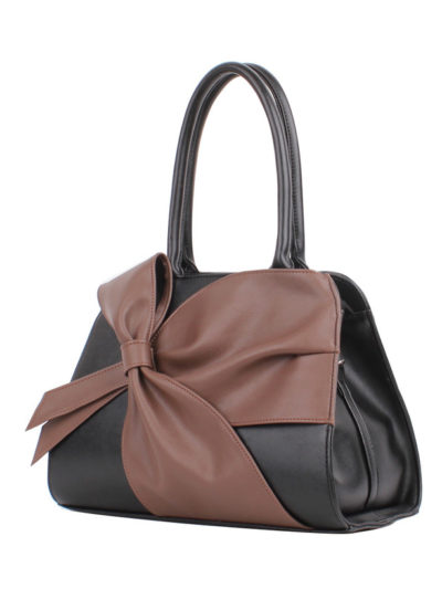 Женская сумка Грифон черный / коричневый, артикул 621