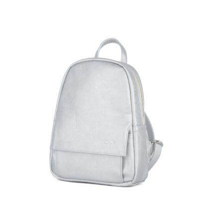 Небольшой женский городской рюкзак Грифон серебряного цвета, артикул 15С541