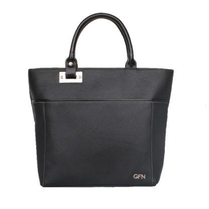 Женская сумка-шоппер Грифон черного цвета, артикул 14С545