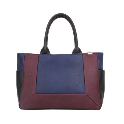 Сумка женская классическая Грифон комбинированного цвета бордо / синий, артикул 15С562