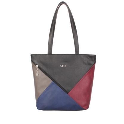 Женская сумка-шоппер Грифон черный / синий / бежевый / бордо, артикул 15С593