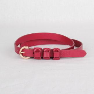 Ремень кожаный женский красный Грифон, артикул 20