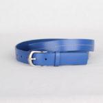 Ремень кожаный женский голубой Грифон, артикул 28