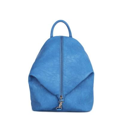 Небольшой женский городской рюкзак Грифон насыщенного голубого цвета, артикул 15С565