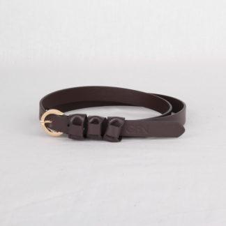 Ремень кожаный женский коричневый Грифон, артикул 20