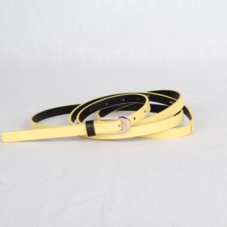 Ремень кожаный женский желтый Грифон, артикул 9
