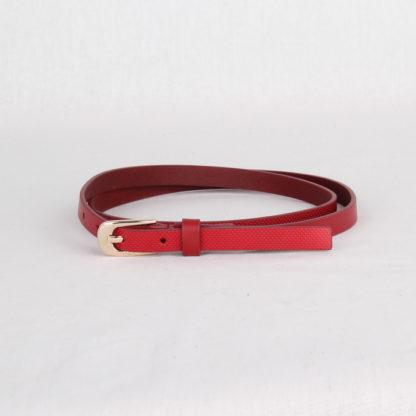 Ремень кожаный женский красный Грифон, артикул 4
