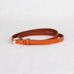 Ремень кожаный женский оранжевый Грифон, артикул 4