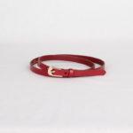 Ремень кожаный женский красный Грифон, артикул 3