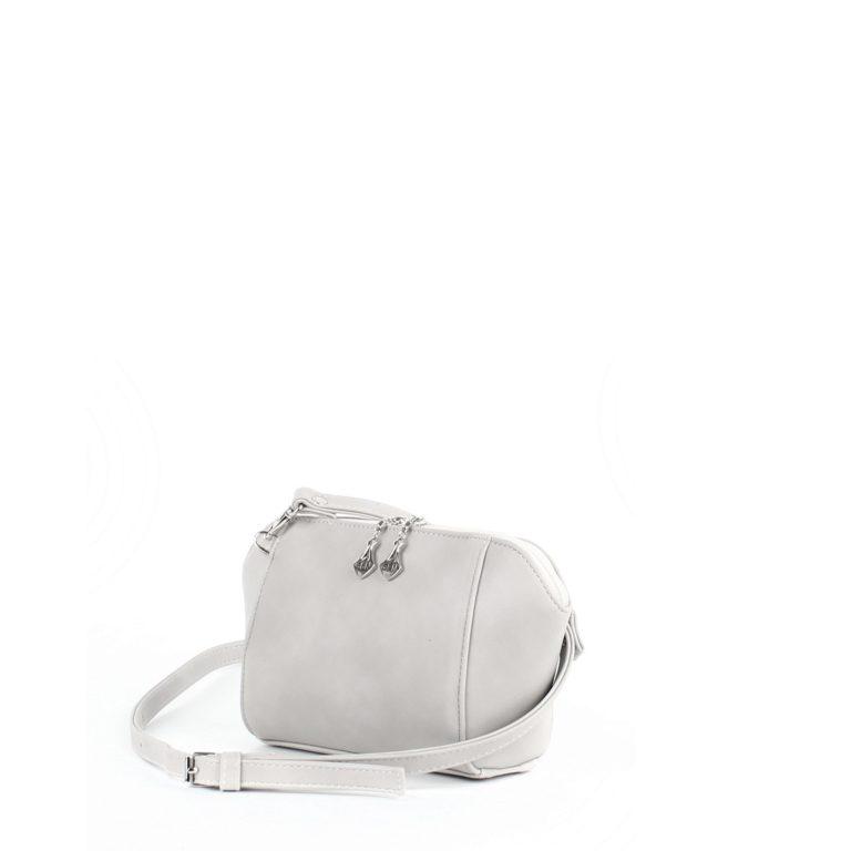 Маленькая сумка трапецевидной формы Грифон молочно-серого цвета, артикул 641