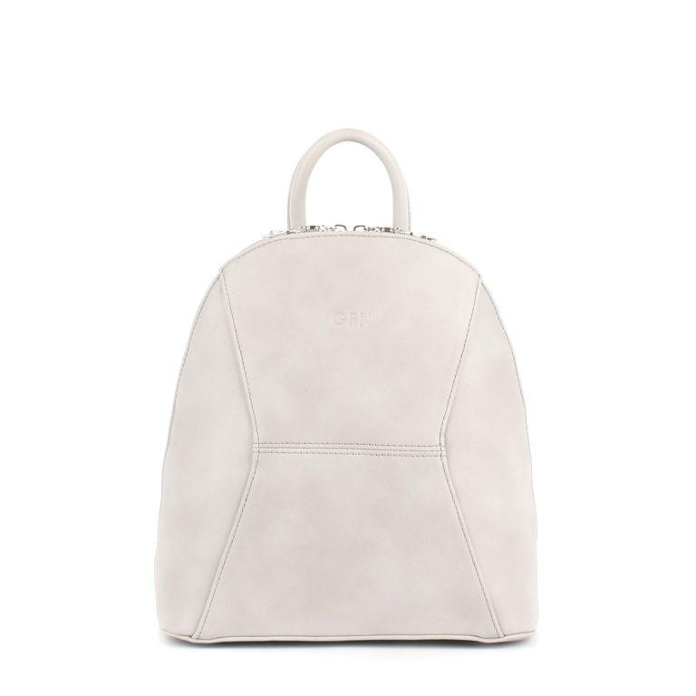 Небольшой женский городской рюкзак Грифон светло-серого, молочного цвета, артикул 648
