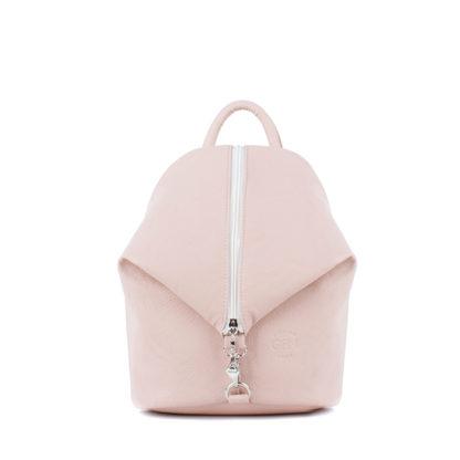 Небольшой женский городской рюкзак Грифон нежно-розового цвета, артикул 653