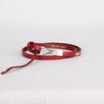Ремень кожаный женский темно-красный Грифон, артикул 2