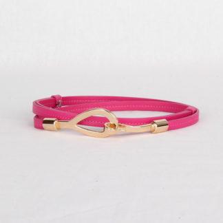 Ремень кожаный женский ярко-розовый Грифон, артикул 7