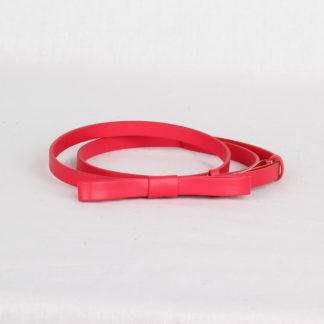 Ремень кожаный женский красный Грифон, артикул 12