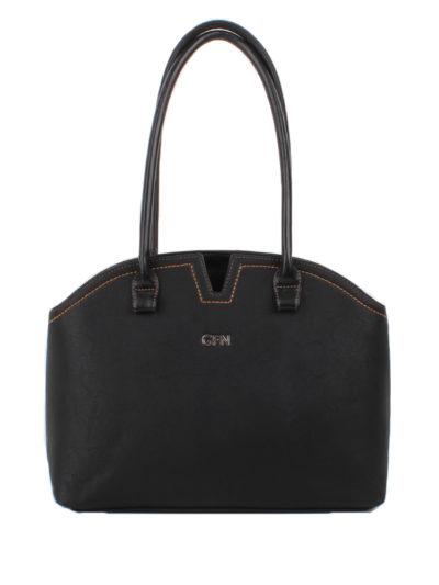 Оригинальная женская сумка-шоппер Грифон черного цвета, артикул 15С592