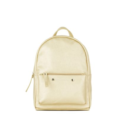 Небольшой женский городской рюкзак Грифон нежно-золотого цвета, артикул 655