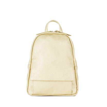 Небольшой женский городской рюкзак Грифон нежно-золотого цвета, артикул 15С541