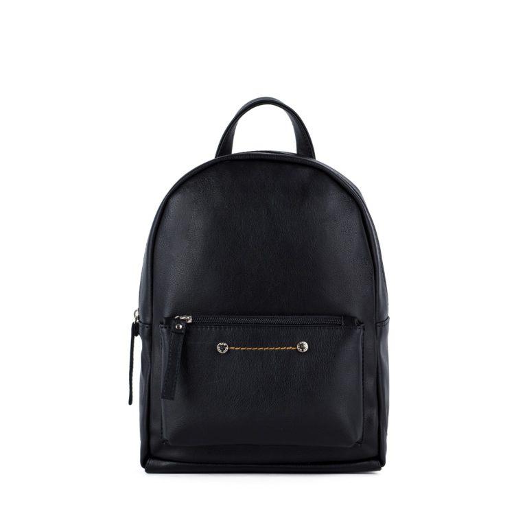 Небольшой женский городской рюкзак Грифон черного цвета, артикул 655