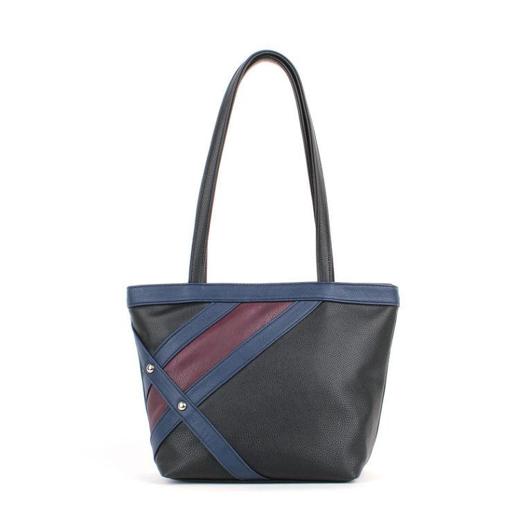 Женская сумка-шоппер Грифон черный / синий / бордо, артикул 630