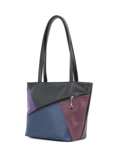 Женская сумка-шоппер Грифон черный / синий / бордо / фиолетовый, артикул 629