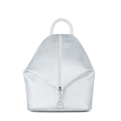 Небольшой женский городской рюкзак Грифон серебряного цвета, артикул 15С565