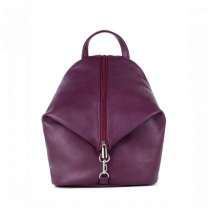 Небольшой женский городской рюкзак Грифон насыщенного бордового цвета, артикул 653