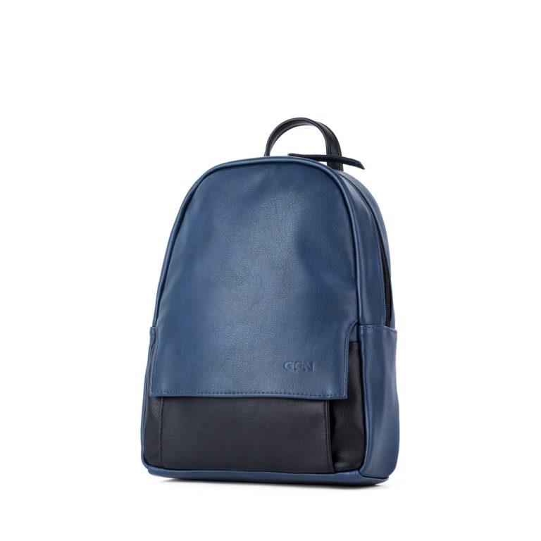 Небольшой женский городской рюкзак Грифон цвета синий /черный, артикул 15С541