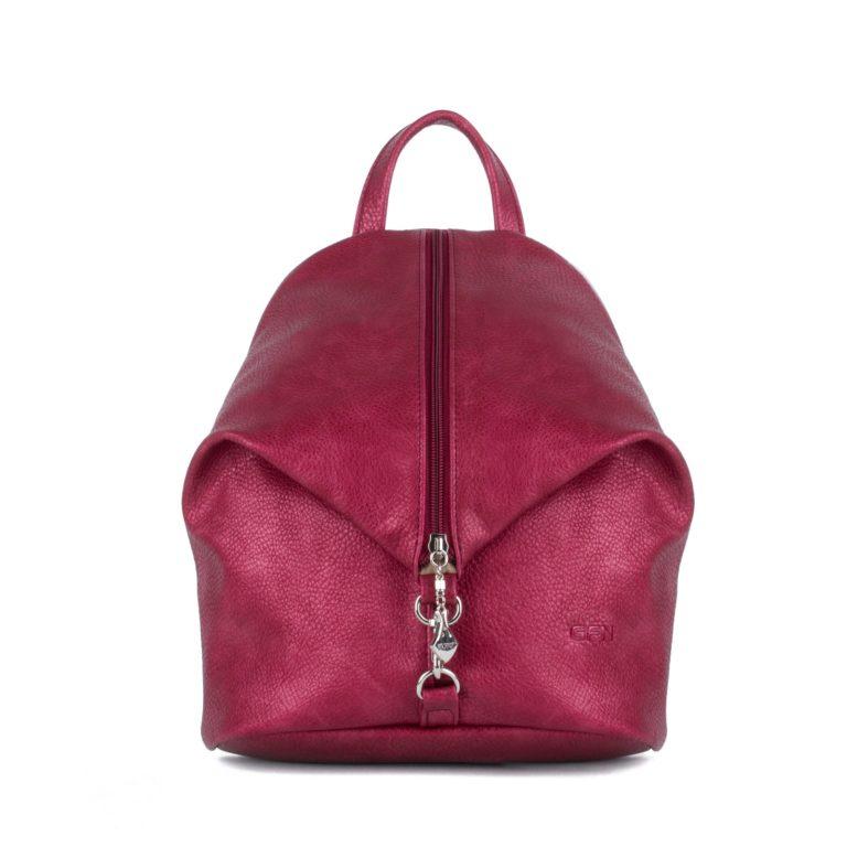 Небольшой женский городской рюкзак Грифон блестящего малиногово цвета, артикул 653