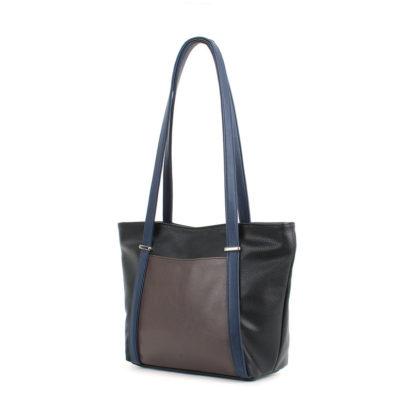 Женская сумка-шоппер Грифон черный / синий / коричневый, артикул 631