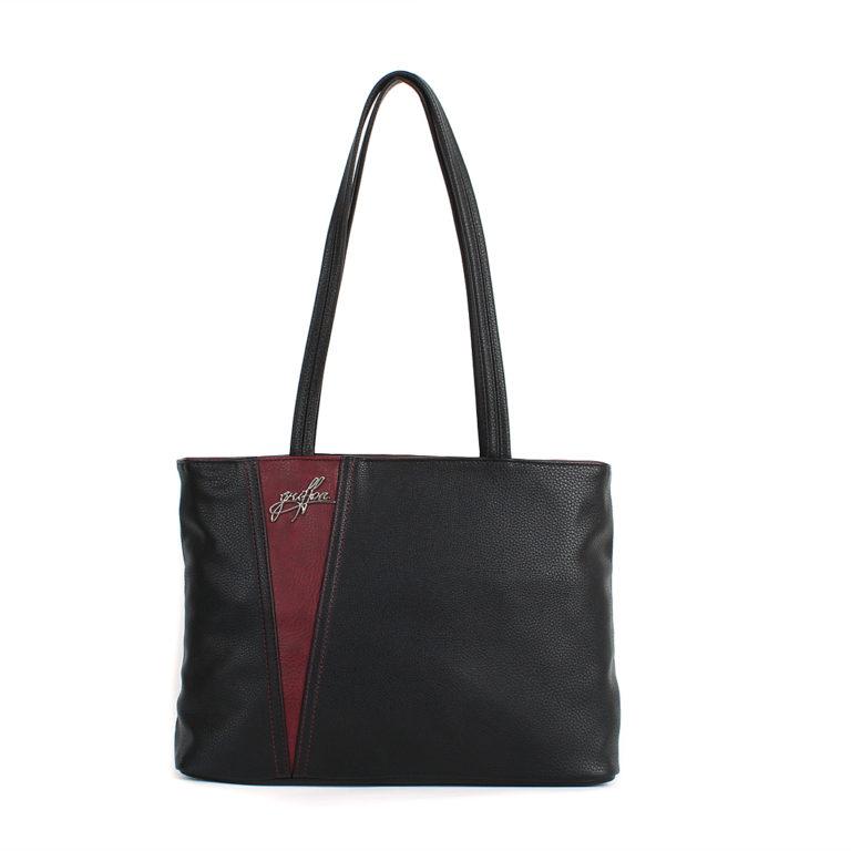 Женская сумка-шоппер Грифон черная, артикул 605