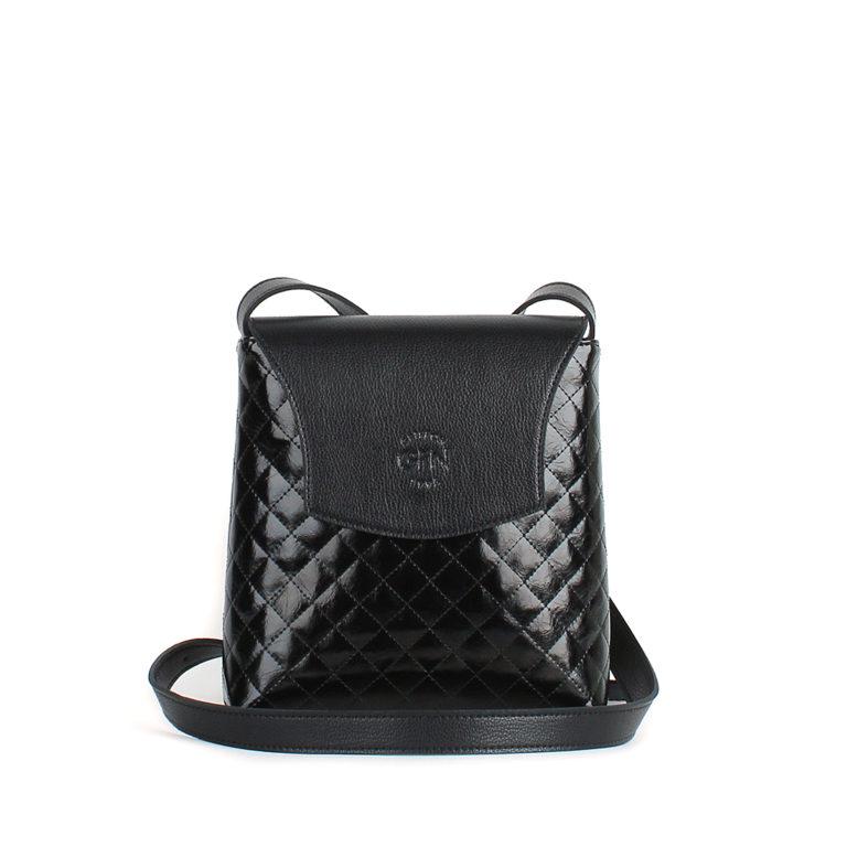 Небольшая женская стеганая сумка Грифон черного цвета, артикул 636