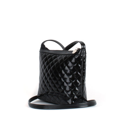 Небольшая женская стеганая сумка Грифон черного цвета, артикул 606