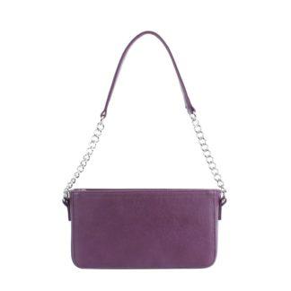 Маленькая сумка женская с цепочкой через плечо Грифон фиолетового цвета, артикул 642