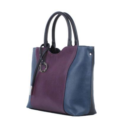 Сумка женская классическая Грифон комбинированного цвета фиолетовый / синий, артикул 639