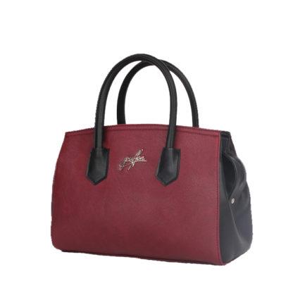 Сумка женская классическая Грифон цвета бордо / черный, артикул 15С577