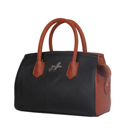 Сумка женская классическая Грифон цвета черный / коричневый, артикул 15С577