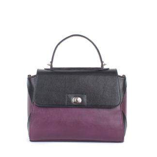 Небольшая женская сумка-портфель повседневная Грифон черный / фиолетовый, артикул 617