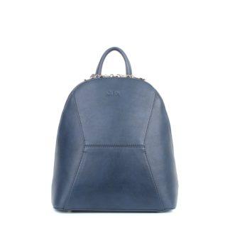 Небольшой женский городской рюкзак Грифон приглушенного синего цвета, артикул 648