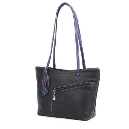 Женская сумка-шоппер Грифон черная, артикул 618