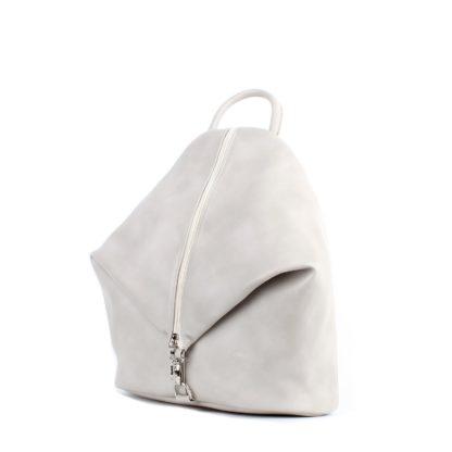 Небольшой женский городской рюкзак Грифон светло-серого цвета, артикул 15С565