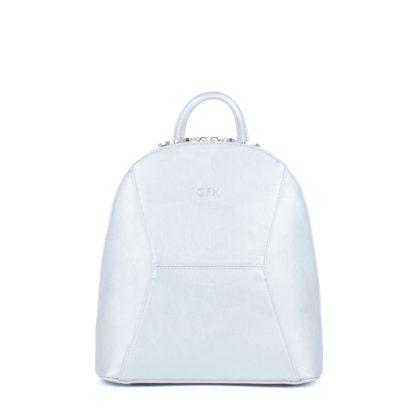 Небольшой женский городской рюкзак Грифон серебряного цвета, артикул 648