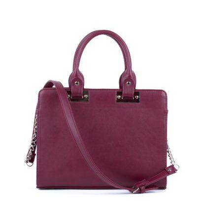 Сумка женская классическая Грифон комбинированного цвета бордо, артикул 637