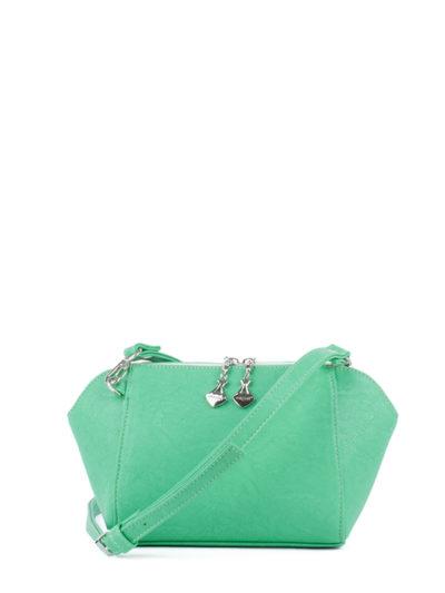Маленькая сумка трапецевидной формы Грифон изумрудного зеленого цвета, артикул 641